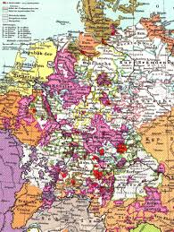 Bavaria Germany Map by German States To 1918 A E