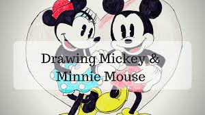 drawing mickey u0026 minnie mouse disney