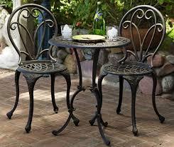 Bistro Patio Chairs Patio Patio Bistro Set Clearance Indoor Bistro Set Black Wrought