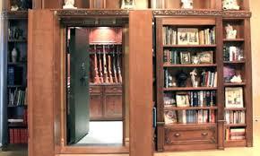 terrific built in gun cabinet image of bookcase hidden gun cabinet