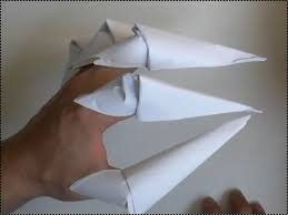 Origami Paper Claws - how to make easy origami claws how to fold paper claws
