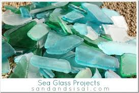 Beach Glass Chandelier Sea Glass Projects Sand And Sisal