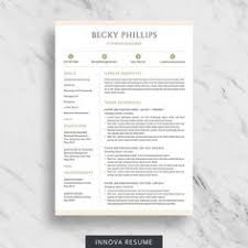 Two Page Resume Minimalist Resume Template For Word 1 2 And 3 Page Resume With