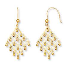 Peridot Chandelier Earrings Kay Chandelier Earrings 14k Yellow Gold