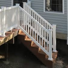 Decking Kits With Handrails How To Build A Deck Composite Stairs And Stair Railings