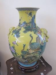 Hand Painted Chinese Vase Antique Ceramic Hand Painted Chinese Ceramic Vase Flower Art