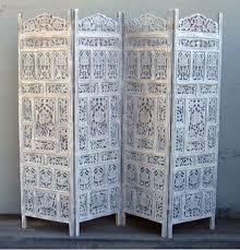 iotc usa sh 1586h carved wooden screen angoori jali white 4 panel