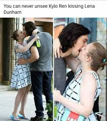 dopl3r com memes you can never unsee kylo ren kissing lena dunham