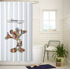 Shower Curtains With Quotes Mickey Mouse Dream Quotes White Custom Shower Curtain Size 60x72