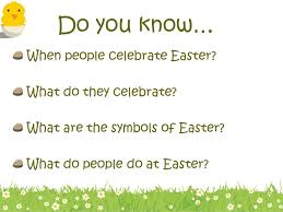 easter history symbols and traditions ppt