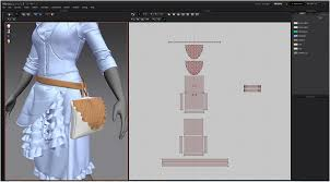 3d bad designer modeling 3d clothes in marvelous designer by jh park bag pattern