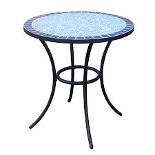 Patio Bistro Table Shop Garden Treasures Pelham Bay Tile Top Black Patio Bistro