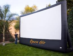 Backyard Screens Outdoor by Silver Screen Outdoor Events Affordable Inflatable Movie Screen