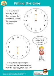learning to tell the time oxford owl