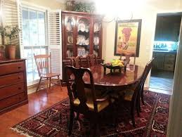 Cherry Dining Room Cherry Dining Table Chairs China Cabinet Should I Paint It