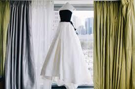 Black And White Wedding Dress Bride Wears Black And White Wedding Dress To New York City