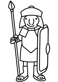 cartoon roman soldier coloring free printable coloring pages