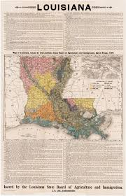 Louisiana State Map by Thematic Map Promoting Louisiana Agriculture Rare U0026 Antique Maps