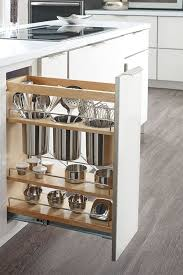 Pullouts For Kitchen Cabinets Get More Out Of Minimal Space With The Base Utensil Pantry Pullout