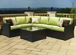 Modern Wicker Patio Furniture 6 Piece Modern Wicker Outdoor Patio Furniture Sectional Sofa W