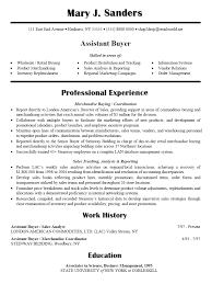 Fashion Resume Examples by Fashion Buyer Resume Examples 8607