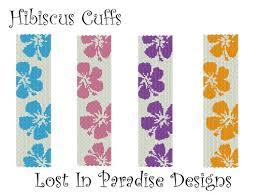 free beaded bracelet pattern images Peyote bracelet pattern hibiscus buy 2 get 1 free jpg