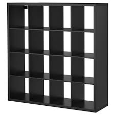 System Build 6 Cube Storage by Kallax Shelf Unit Black Brown Ikea