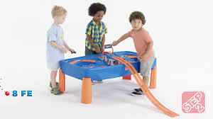step2 wheels table kid approved step2 wheels car track play table youtube
