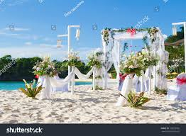 wedding arches coast wedding arch set on stock photo 133092965