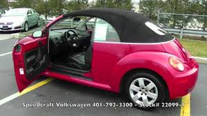 volkswagen beetle trunk in front sold 2007 volkswagen beetle convertible speedcraft vw