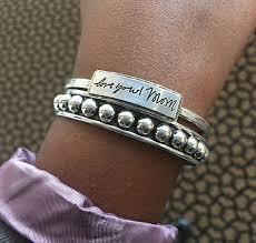 silver beaded bangle bracelet images Custom handmade bracelets heidijhale jpg