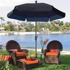 5 Ft Patio Umbrella Fiberbuilt Umbrellas Lucaya 11 Ft Patio Umbrella In Navy Blue