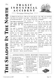 news paper writing newspaper report search results teachit english 1 preview