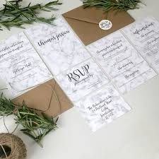 Wedding Invitation Companies Marble Wedding Invitation Stationery With Stickers By The Portland