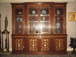Antique Breakfront China Cabinet by Mother Of Pearl China Cabinet Library Bookcase