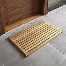 Teak Bath Mat Teak Mat In Door Mats Reviews Crate And Barrel