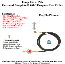 How To Build A Propane Fire Pit Ck Kit Universal Propane Complete Basic Fire Pit Kit U2013 Includes
