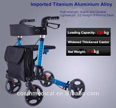 senior walkers with seat light aluminum folding rollator senior walkers with seat buy