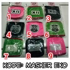 Masker Exo 613me kpop shop masker mask kpop