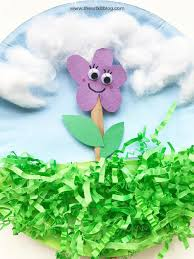 how to make an animated paper plate flower craft for kids