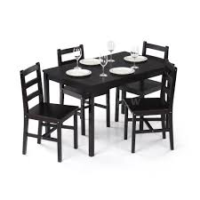 breakfast dining set dining table set 4 chairs glass metal kitchen 5 piece room