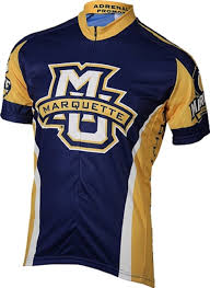 mens cycling jackets sale amazon com ncaa marquette men u0027s cycling jersey blue gold