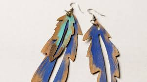 how to make feather earrings with cricut crafts make wood veneer feather earrings by