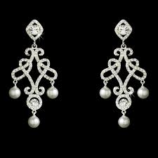 and pearl chandelier earrings antonia vintage cz pearl chandelier earrings sale