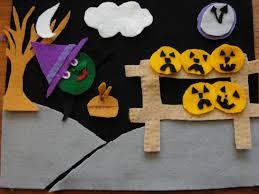 Halloween Flannel Fabric Halloween Fun 5 Little Pumpkins Felt Board