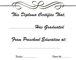preschool graduation diploma preschool graduation kindergarten graduation diploma free printable