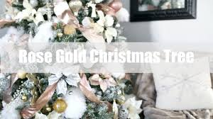 Gold White Christmas Tree Rose Gold Christmas Tree Youtube