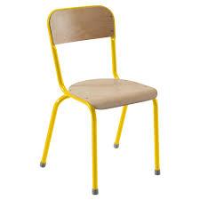 chaise scolaire 4 pieds atlas antibruit manutan collectivités
