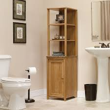 wooden toilet paper holder stand bathroom ideas corner tower bathroom cabinet with rustic style and wooden storage