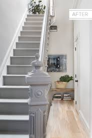 Paint Colours For Hallways And Stairs by Light Wood Floors Give A Gloomy Stairwell A Bright New Look